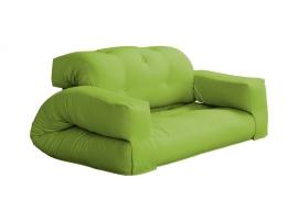 grön häftig bäddsoffa